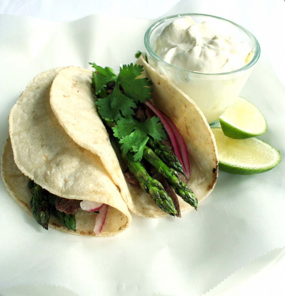 Grilled Asparagus Tacos