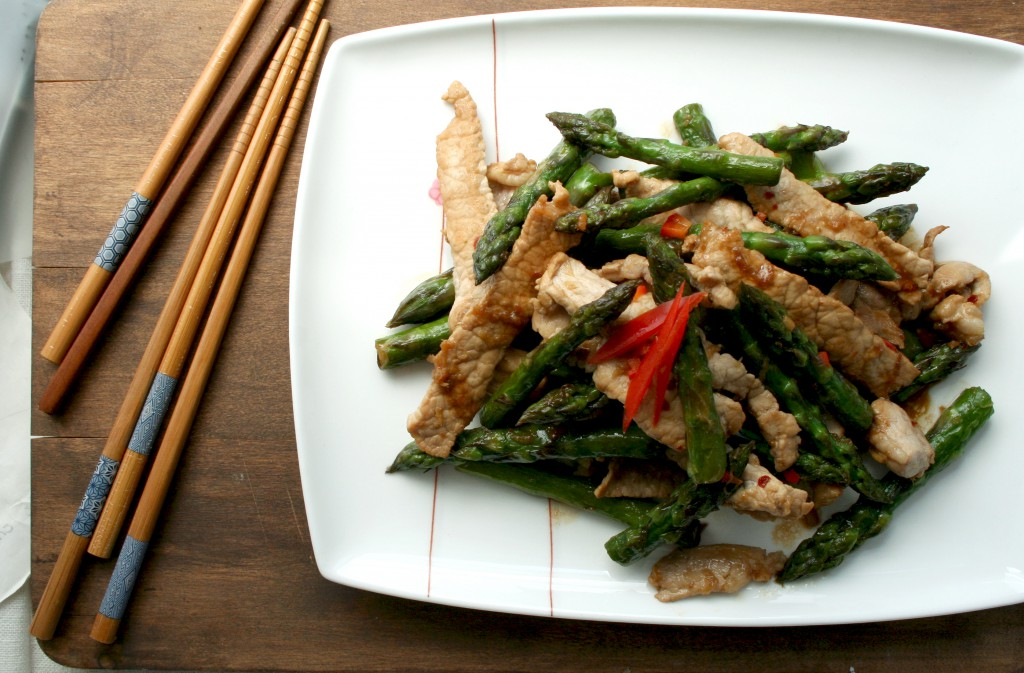 Spicy Asian Stir-Fried Asparagus